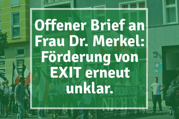 Der Moment, wenn du hörst, die Finanzierung von EXIT-Deutschland ist gefährdet. Ein solch starkes politisches Zeichen der Untätigkeit wird in der einschlägigen extremistischen Szene wohl registriert werden.